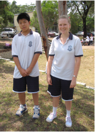 students in sport uniform